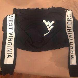 Nike WVU Mountaineers LS t shirt